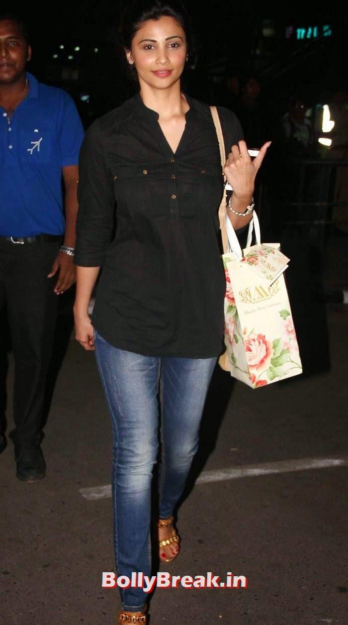 Daisy Shah, Bollywood Celebs at Airport to Attend Arpita Khan's Wedding