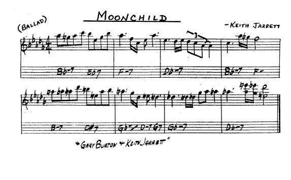 Partitura Saxofón Keith Jarrett