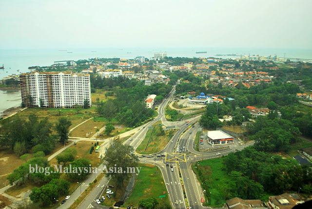 Aerial view of Port Dickson