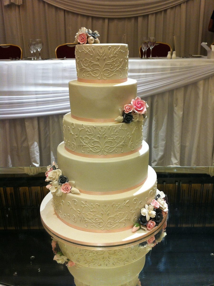 2 tier wedding cake singapore the sensational cakes painted royal icing designed 10166