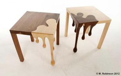Mesa única hecha a mano