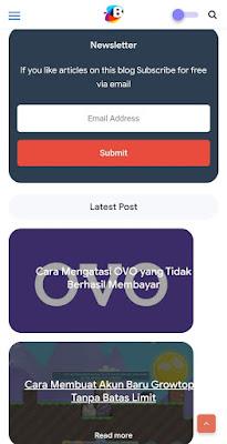 Contoh Widget Blog pada Tampilan Mobile