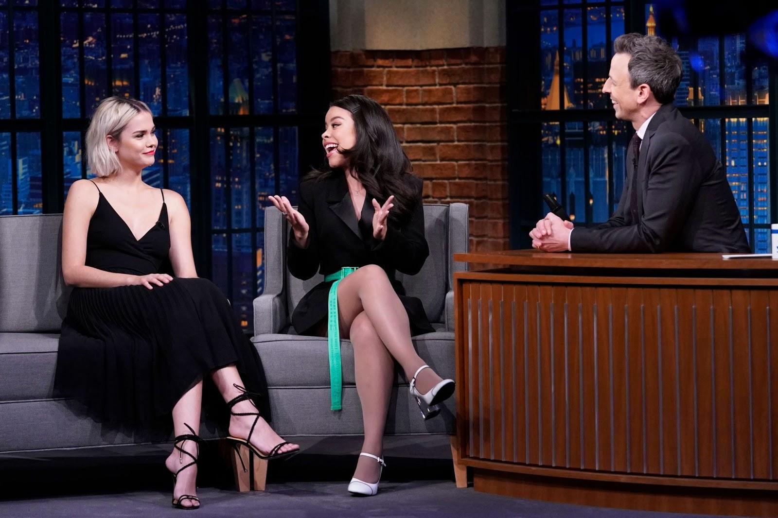 Maia Mitchell and Cierra Ramirez - Late Night with Seth Meyers - 01/28/2019