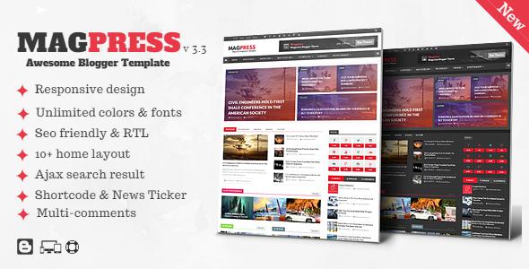 MagPress blogger Template