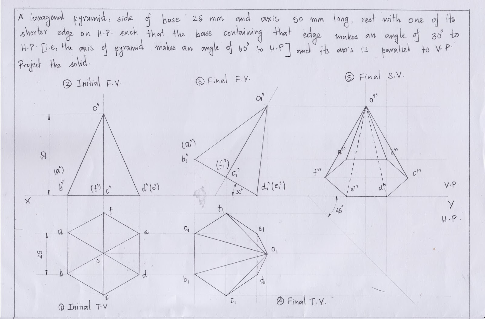 Engineering Graphics For Engineers Projection Of Solids