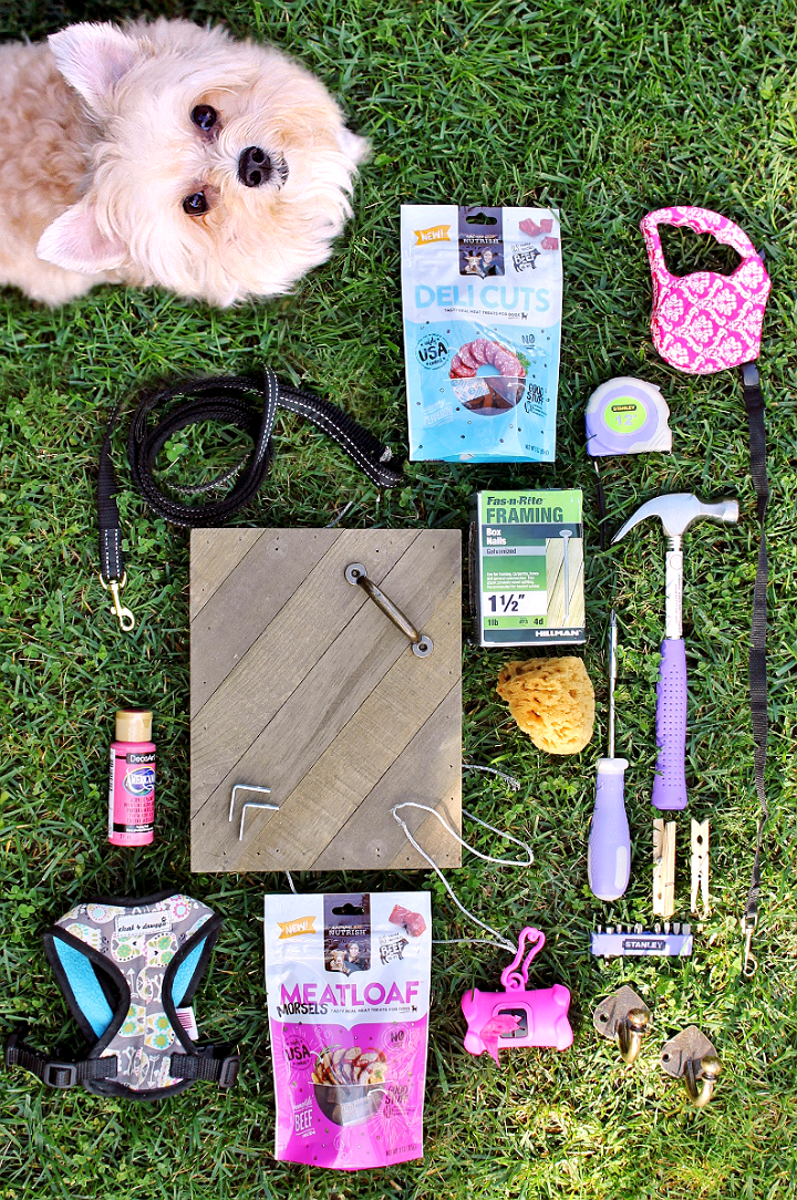 Organize your pet with a D.I.Y leash station. #TreatingWithNutrish #NutrishPets AD