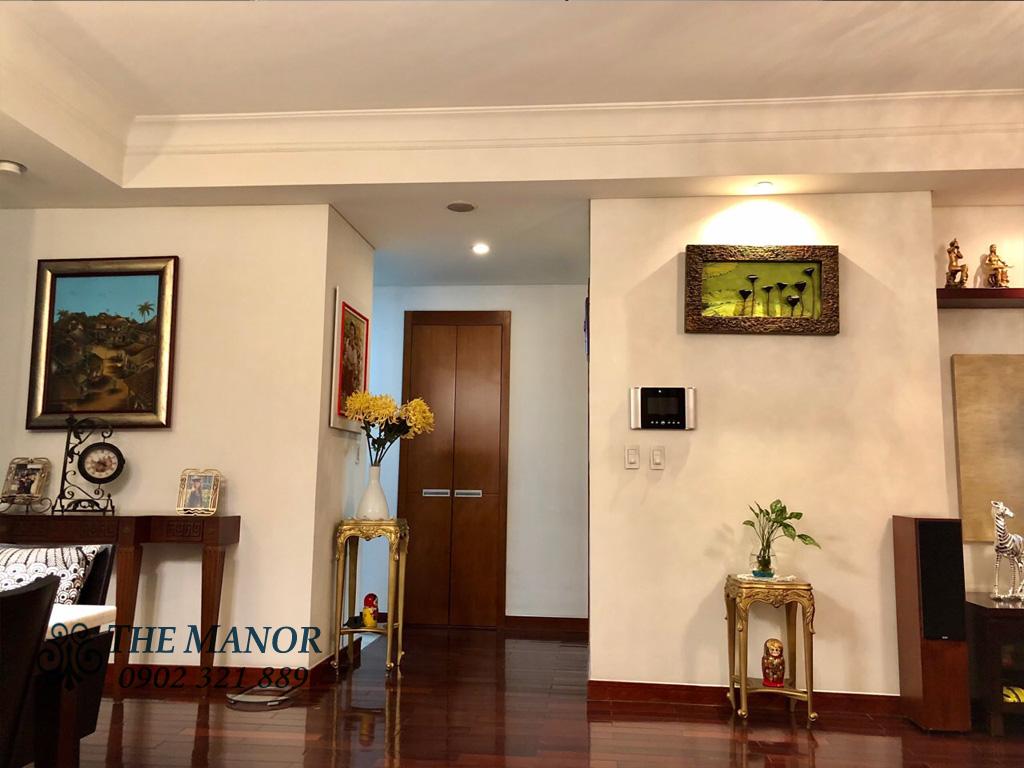 3 phòng ngủ cho thuê The Manor căn hộ 163m2 nội thất đẹp - trang trí tại phòng khách