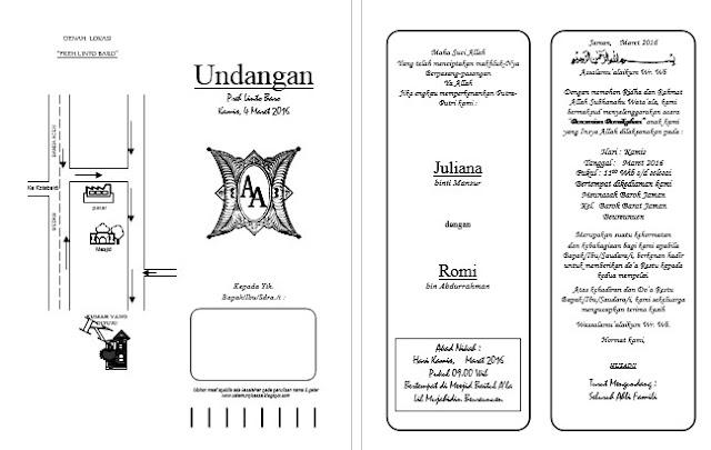 Desain undangan pernikahan word