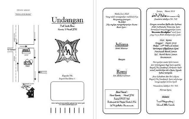 Download Contoh Desain Undangan Pernikahan Format Word Salamun Picassa