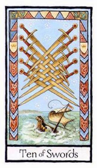 Tarot Notes A Journey Through My Tarot Decks The Magician: Tarot Notes: Old English Tarot: 10 Of Swords