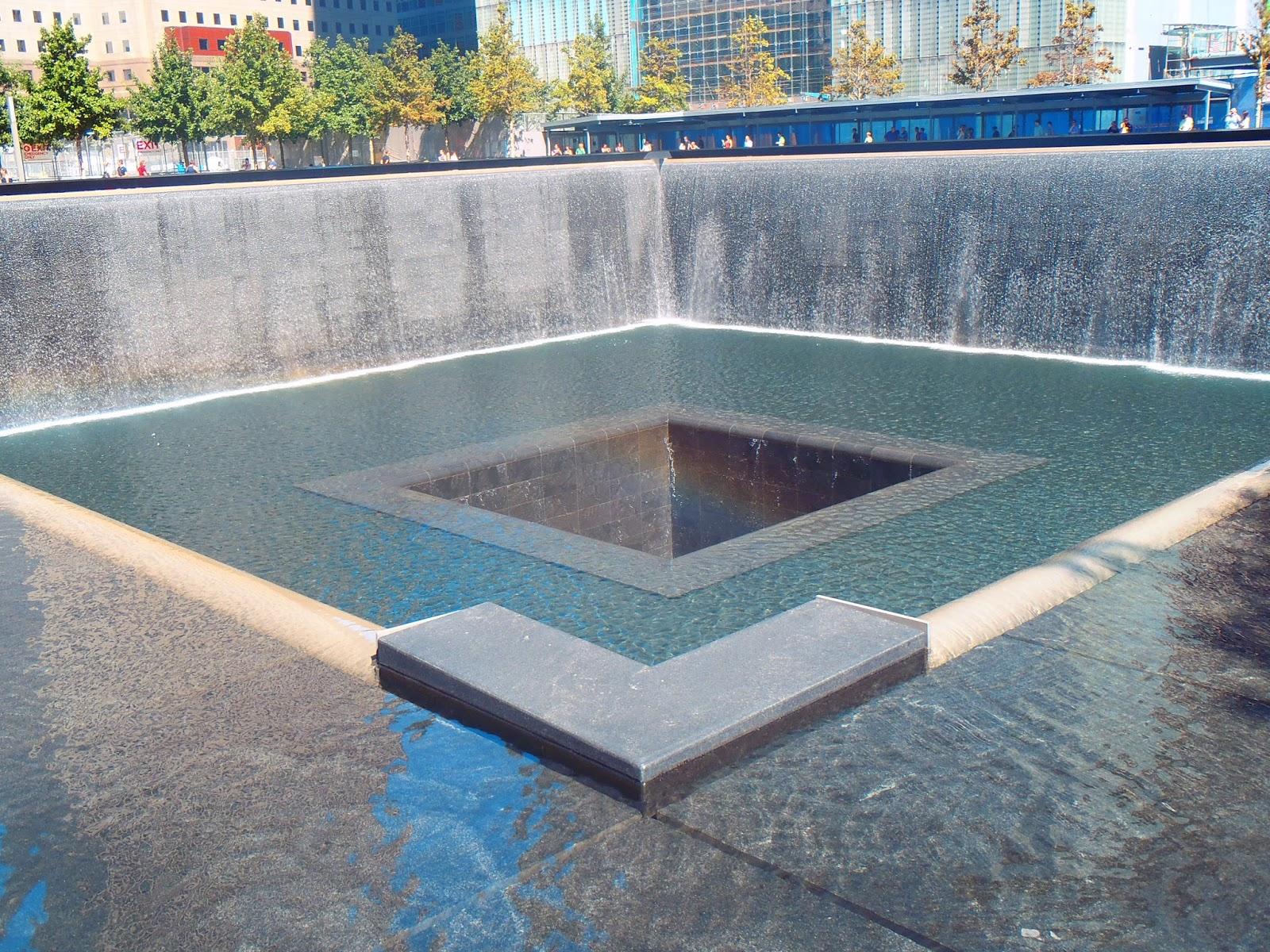 Reflective pools at 9/11 Memorial New York City