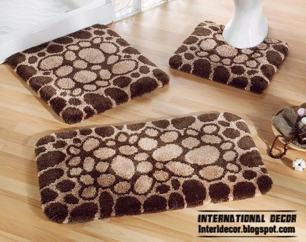 brown bathroom rugs