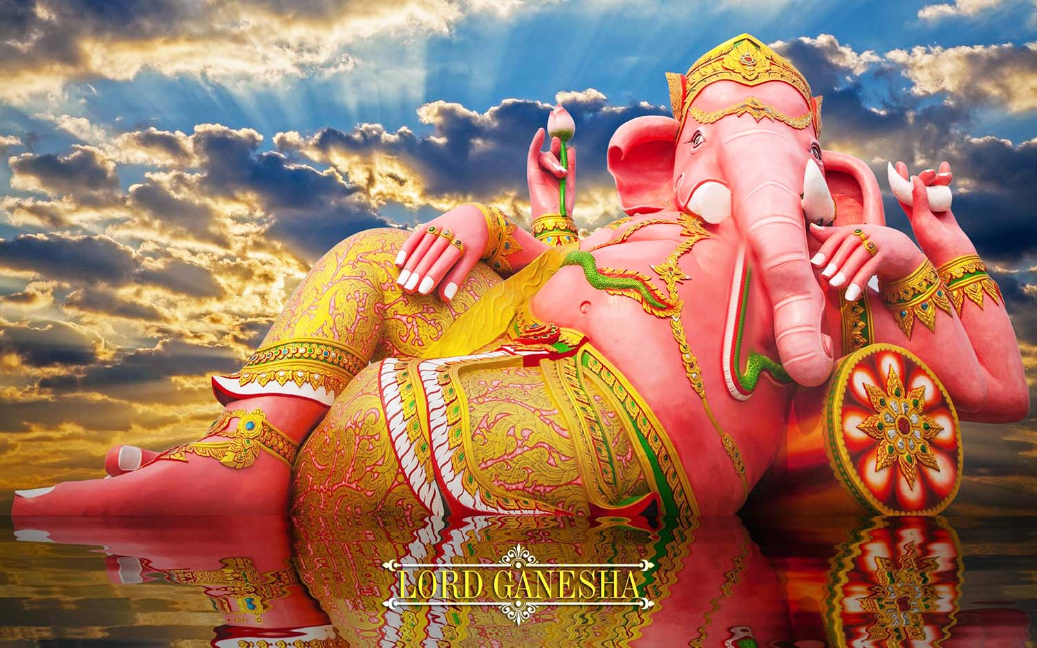 Giant God Vinayaka lying wallpaper!