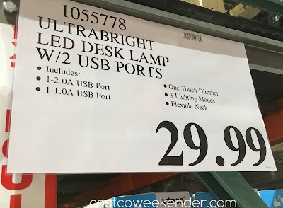 Deal for the UltraBrite LED Desk Lamp (model SL9067-2) at Costco