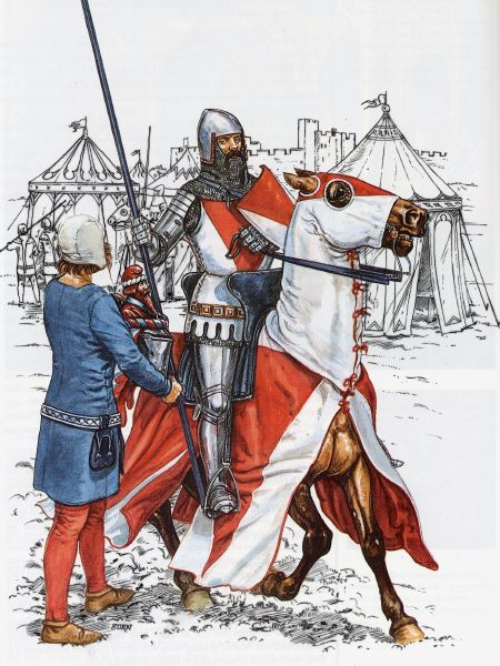 a comparison and contrast of the knight and the squire in medieval society