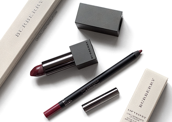 Burberry Lip Velvet Oxblood No.437 Lip Definer No.14 Review Swatches
