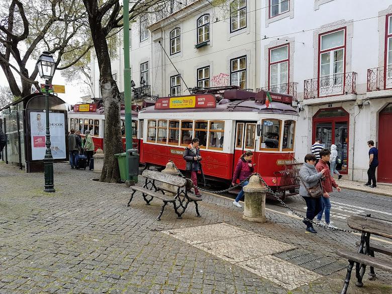 街上能看到許多觀光電車,但一次都沒有搭過