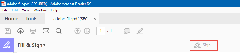 Image result for acrobat fill and sign option