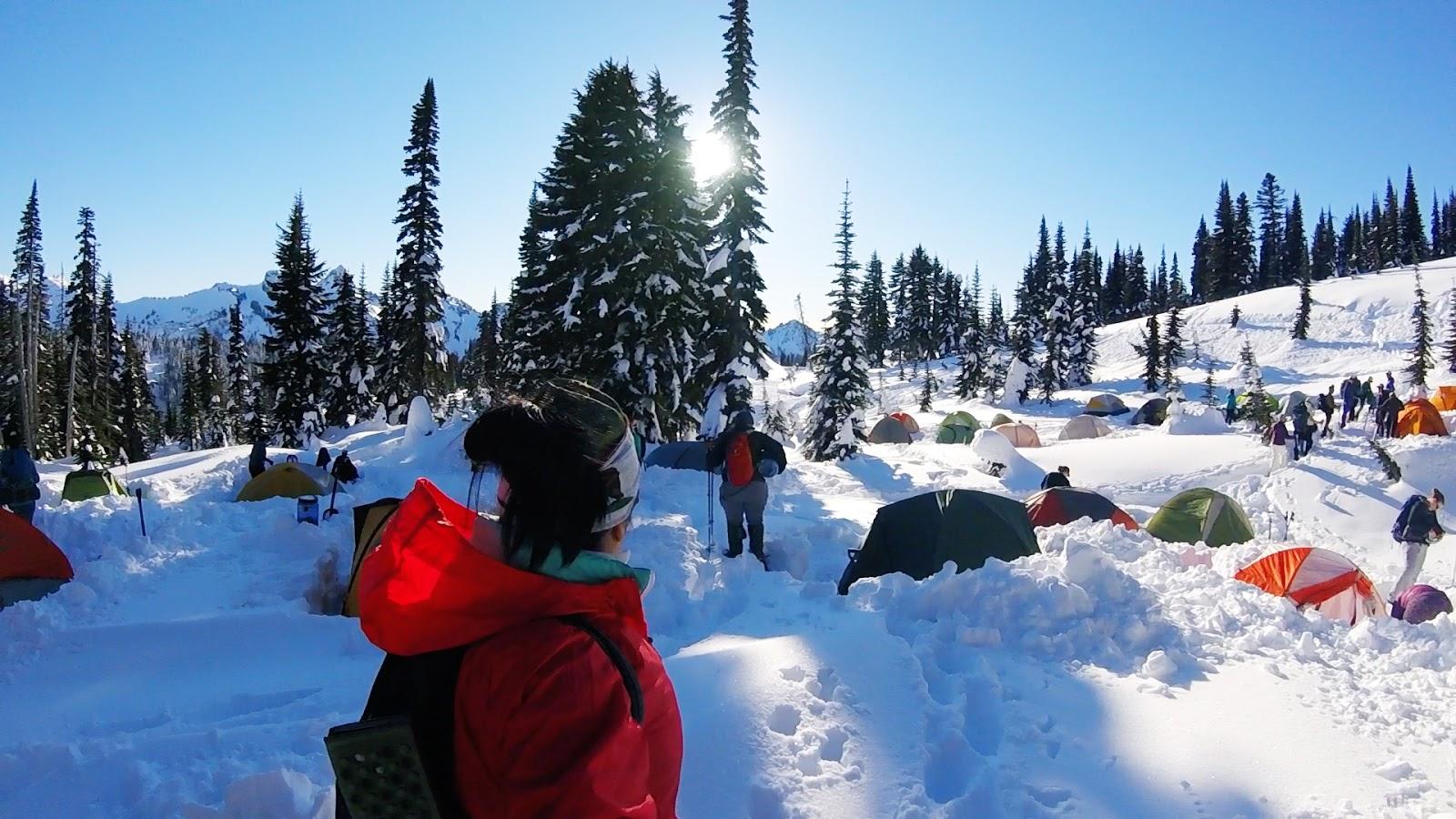 Doris the Explorist: Snow Camping 101 - Mt. Rainier Edition