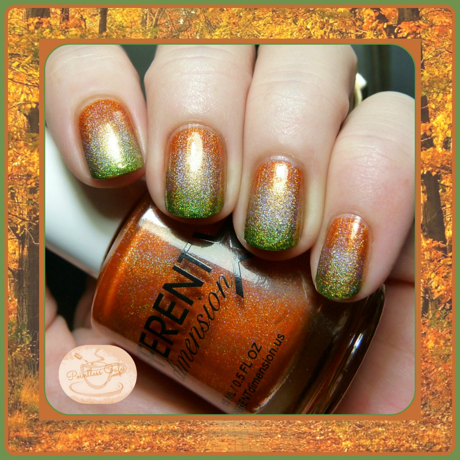 Diy Autumn Gradient Nail Art: Autumn/Thanksgiving Gradient Nail Art