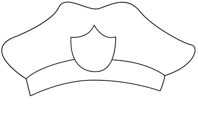 Sombrero de Policía  cartulina
