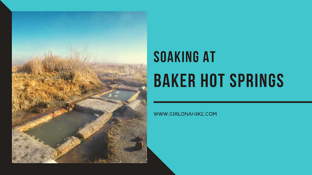 Soaking at Baker Hot Springs, Utah