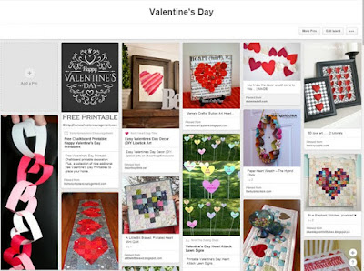 Valentine's Day Pinterest board