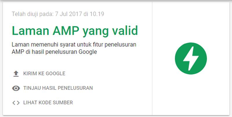 Cara Uji Validasi AMP HTML Dengan Ekstensi AMP Validator