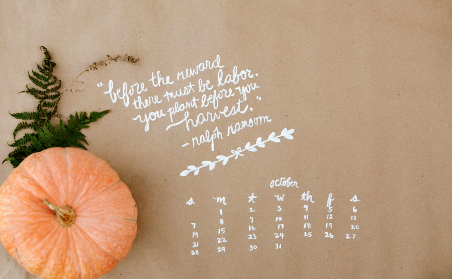 October Quote Widescreen wallpaper holidays Wallpaper Better