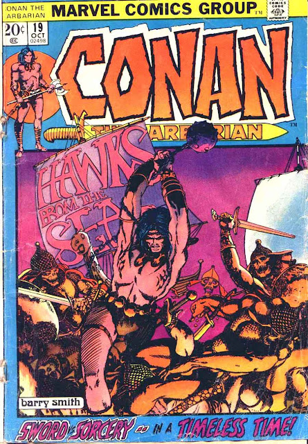 Conan the Barbarian v1 #19 marvel comic book cover art by Barry Windsor Smith