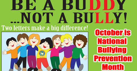 October is Bullying Prevention and Awareness Month