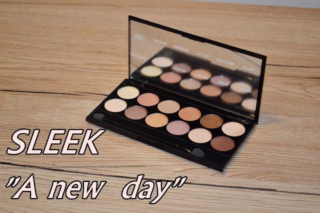Paleta Sleek A new day swatche + makijaż dzienny