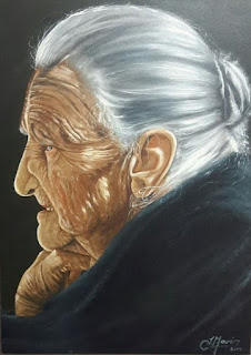 retratos tipicos de abuelitas del campo colombiano
