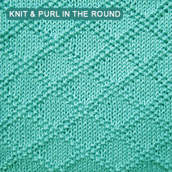 King Charles Brocade - knitting in the round