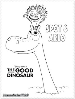 gambar mewarnai the good dinosaur