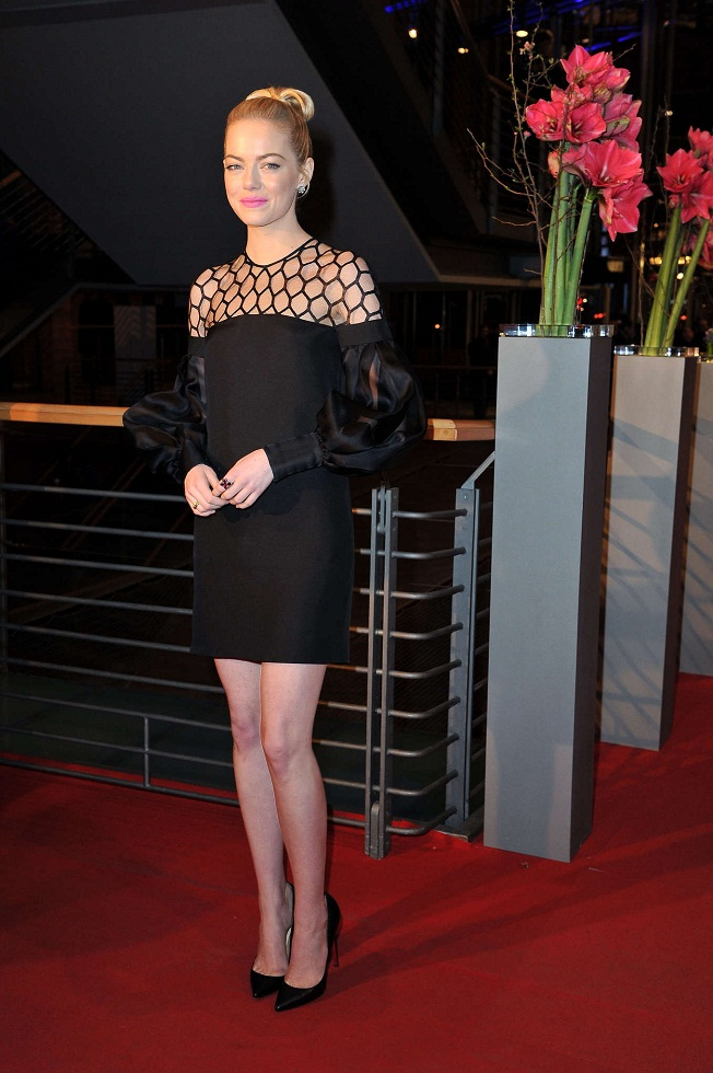 Emma Stone wears Gucci at The Croods premiere at The Berlin Film Festival