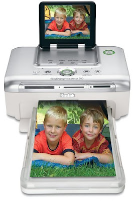 Print real Kodak pictures from popular memory cards  Kodak Easyshare Photo Printer 500 Driver Downloads