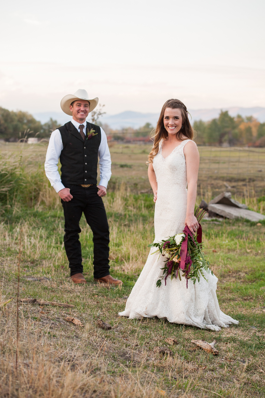 Montana Bride + Groom / Cowboy / Cali Frankovic Photography