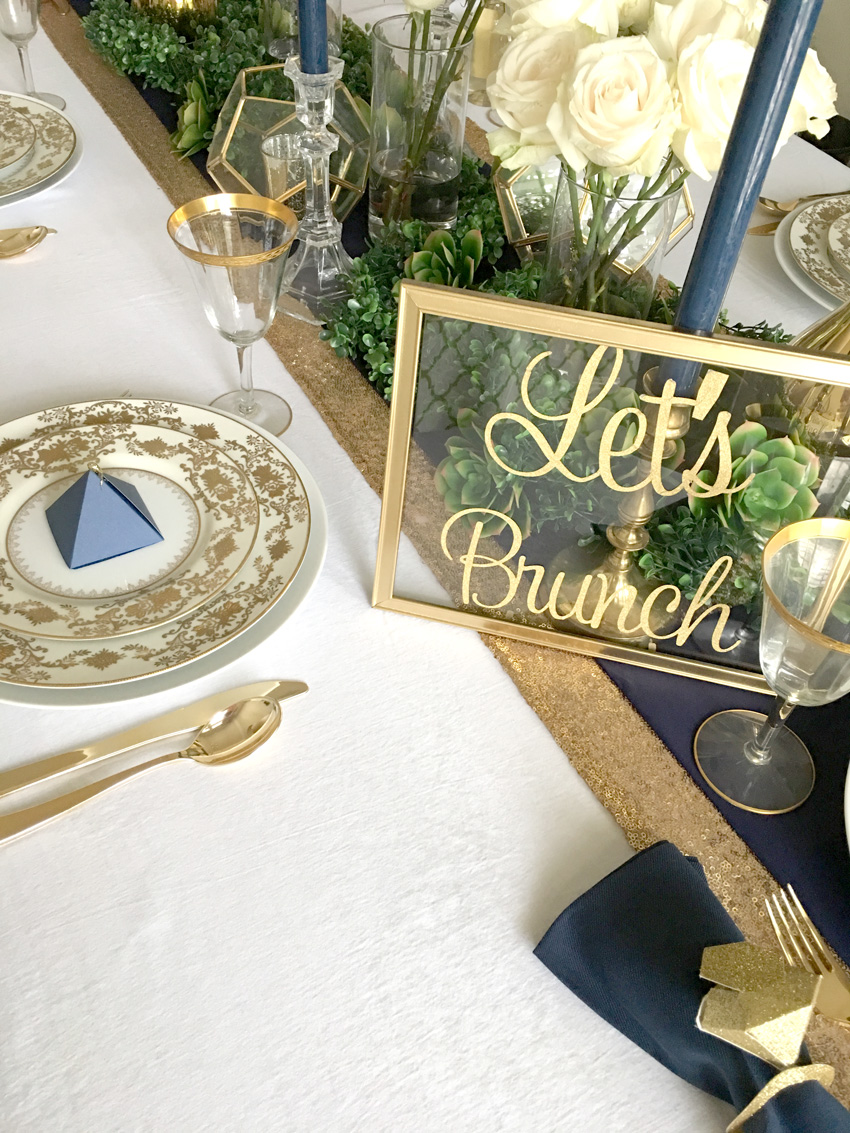 Bellagrey Designs Geometric Navy And Gold Bridal Shower