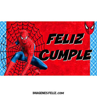 Feliz Cumpleaños Hombres. Tarjeta del hombre araña Spiderman.