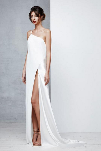 White prom dress by Angrilla