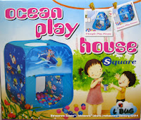Play House Junior CBH-02 Ocean Play House Square + 100 Bola