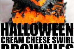 Halloween Swirl Cream Cheese Brownies Recipe