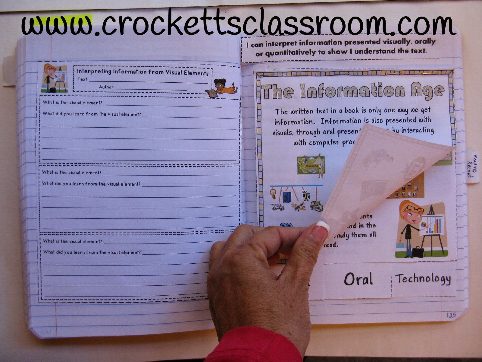 Help your student about visual information with this interactive notebook page.