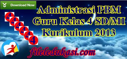 Administrasi Pbm Guru Kelas 4 Sd/Mi K-2013 Terlengkap
