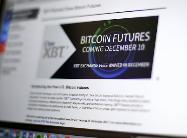 Bitcoin futures rise as virtual currency hits