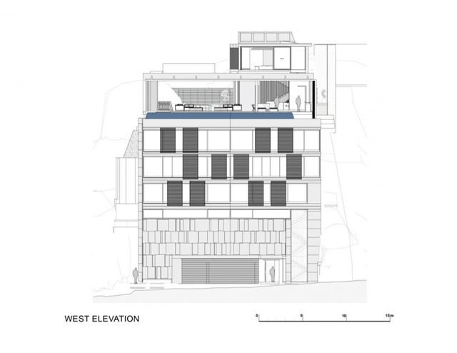Illustration of west elevation