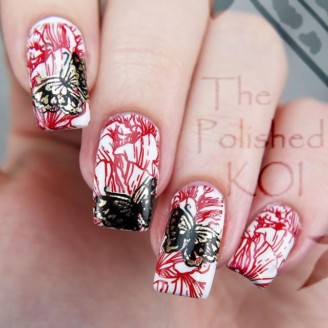 Foil butterfly nail art