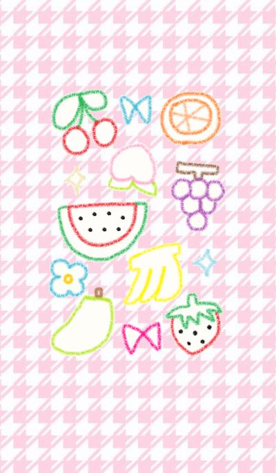 Crayon fruits