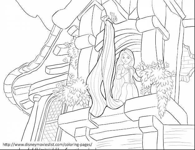 Surprising Tangled Rapunzel Tower Coloring Page With Tangled Coloring Pages  And Tangled Coloring Pages Online